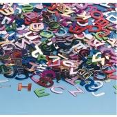 Tischdekoration und Streudekoration, Konfetti bunte Buchstaben