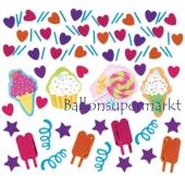 Konfetti Streudekoration, Tischdeko Candy Bar Party, Geburtstagsdekoration, 3 Sorten Streukonfetti