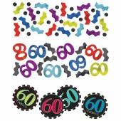 Konfetti Streudekoration, Tischdeko zum 60. Geburtstag, Partydekoration, 3 Sorten Streukonfetti