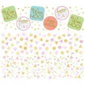 Confetti Fun Birthday Konfetti, 3 Sorten Streudekoration, Partydekoration zum Geburtstag