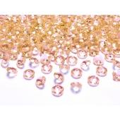 Konfetti, Diamanten, apricot, Tischdekoration Hochzeit, Party, Geburtstag