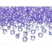 Konfetti, Diamanten, flieder, Tischdekoration Hochzeit, Party, Geburtstag