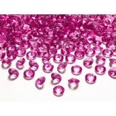 Konfetti, Diamanten, pink, Tischdekoration Hochzeit, Party, Geburtstag