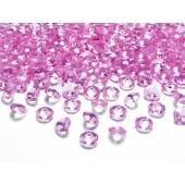 Konfetti, Diamanten, rosa, Tischdekoration Hochzeit, Party, Geburtstag