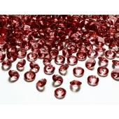 Konfetti, Diamanten, rot, Tischdekoration Hochzeit, Party, Geburtstag