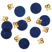 Konfetti Elegant True Blue 18, Dekoration zum 18. Geburtstag