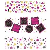 Konfetti Streudekoration, born to be fabulous, Tischdeko zum Geburtstag, Partydekoration, 3 Sorten Streukonfetti