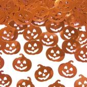Konfetti Kürbisse, Tischdeko zu Halloween