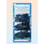 Konfetti Streudekoration, blau, Tischdeko zum Geburtstag, Partydekoration, 3 Sorten Streukonfetti