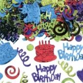 Happy Birthday Geburtstags-Konfetti, Tischdekoration zum Geburtstag, 70 Gramm