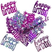Glitzerndes Happy Birthday Konfetti zum Geburtstag, Pink
