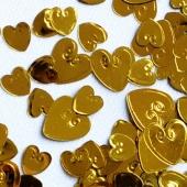 Tischkonfetti, Streudeko, Goldene Herzen, Loving Hearts