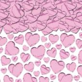 Herzkonfetti in Rosa, 70 Gramm