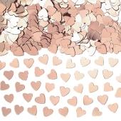 Tischkonfetti, Herzkonfetti Rosegold