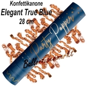 Konfettikanone Elegant True Blue, 28 cm