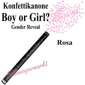 Konfettikanone Boy or Girl, Gender Reveal, rosa