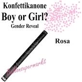 Konfettikanone Boy or Girl, Gender Reveal, rosa