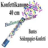Konfettikanone, Konfetti-Shooter, 40 cm, buntes Seidenpapier