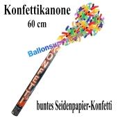 Konfettikanone, Konfetti-Shooter, 60 cm, buntes Seidenpapier