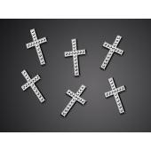 Konfetti Streudeko Tischdekoration, silberne Kreuze