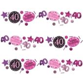 Konfetti Pink Celebration 40, 3 Sorten Streudekoration