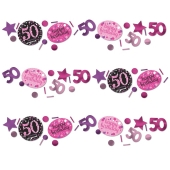 Konfetti Pink Celebration 50, 3 Sorten Streudekoration