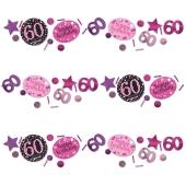 Konfetti Pink Celebration 60, 3 Sorten Streudekoration