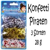 Pirat, Konfetti Streudekoration, Partydekoration, 3 Sorten Streukonfetti