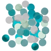 Aqua Glamor Konfetti-Punkte, Tischdekoration, 15 Gramm