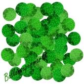 Holografische Konfetti-Punkte, Grün, Tischdekoration, 15 Gramm