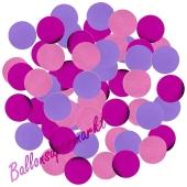 Bunte Konfetti-Punkte, Pink/Rosa/Lila, Tischdekoration, 15 Gramm