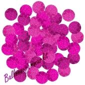 Holografische Konfetti-Punkte, Pink, Tischdekoration, 15 Gramm