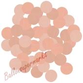 Konfetti-Punkte, Rose Gold, Matt, Tischdekoration, 15 Gramm