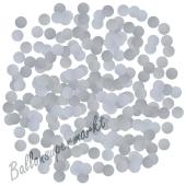 Kleine Konfetti-Punkte, Silber, Tischdekoration, 15 Gramm