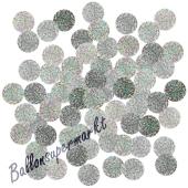 Holografische Konfetti-Punkte, Silber, Tischdekoration, 15 Gramm