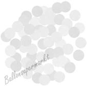 Konfetti-Punkte, Weiß, Matt, Tischdekoration, 15 Gramm