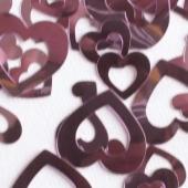 Konfetti Tisch- und Streudekoration Herzen in Rosa