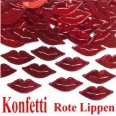 Konfetti Rote Lippen Tischdekoration, Party- und Festdekoration