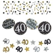 Konfetti Sparkling Celebration 40, 3 Sorten Streudekoration