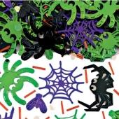 Konfetti Spinnen, Halloween und Kindergeburtstag