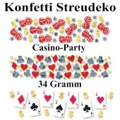 Konfetti Tischdeko, Streudekoration Casino Party, 3 verschiedene Sorten