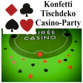 Konfetti Tischdeko, Streudekoration Casino Party