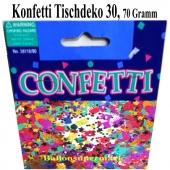 Konfetti Tischdekoration zum 30. Geburtstag, Tischkonfetti 70 Gramm