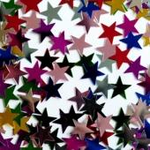 Tischdekoration und Streudekoration, Konfetti bunte Sterne