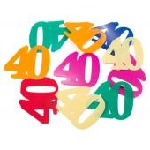 Konfetti XL zum 40. Geburtstag