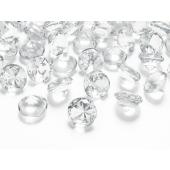 Konfetti XL, Diamanten, klar, Tischdekoration Hochzeit, Party, Geburtstag