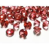 Konfetti XL, Diamanten, rot, Tischdekoration Hochzeit, Party, Geburtstag