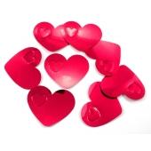 Konfetti XL Rote Herzen Tischdekoration, Party- und Festdekoration