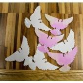 Konfetti XL Streudeko Tauben in Weiß und Perlmutt, Tischdekoration Hochzeit