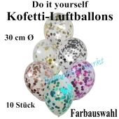 Konfetti-Luftballons Do it yourself, 10 Stück